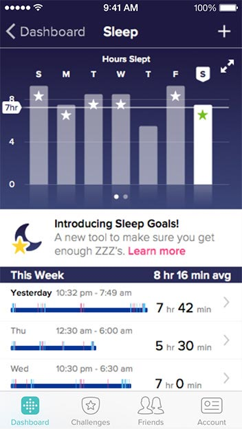 Fitbit Charge HR Review App Screenshot